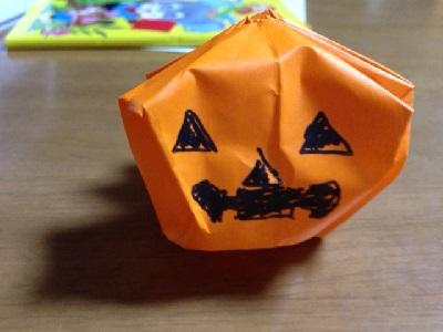 ハロウィン 折り紙 立体かぼちゃ