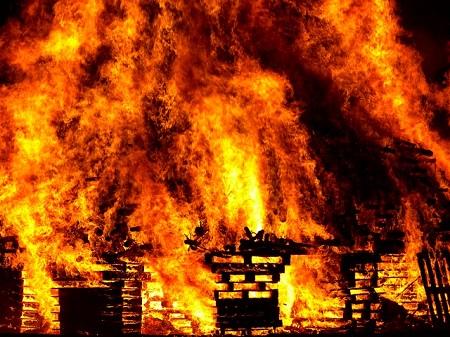 道祖神火祭り 2016