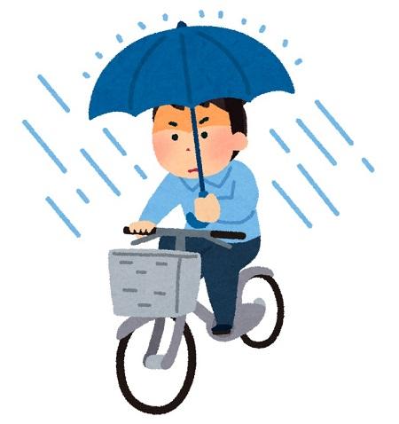梅雨 自転車