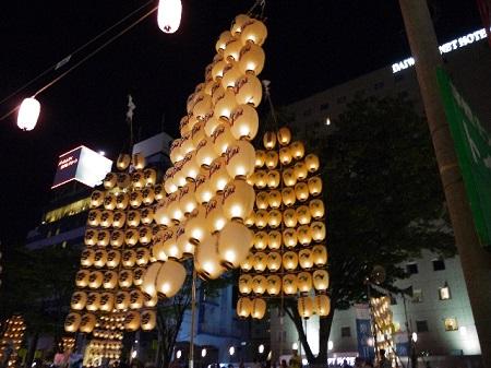 秋田竿燈祭 屋台