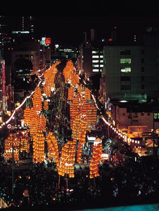 秋田竿燈祭 駐車場